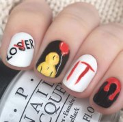 halloween spooky nails art