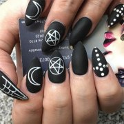 halloween acrylic nails art