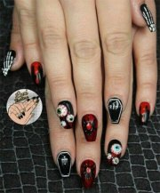 halloween coffin nails art