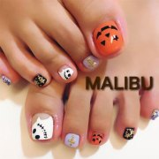 halloween toe nails art design