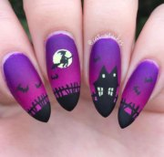 halloween witch nails art design