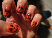cute halloween pumpkin nails