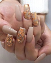 autumn acrylic nail art design