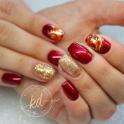 autumn gel nail art design