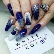 christmas 3d nail art design