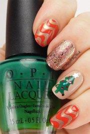 christmas tree nail art design