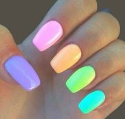 easter color nail art design