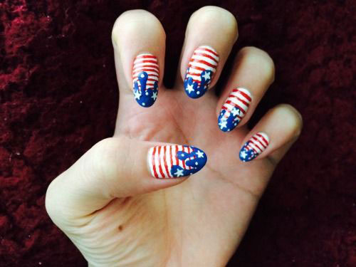 American Flag Nail Art Designs  Ideas 2019  4th of July