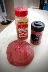 Cinnamon Stick Glitter Playdough | Frugal Fun Mom