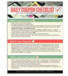 Daily Coupon Checklist   Frugal Fun Mom