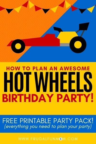 How To Plan An Awesome Hot Wheels Birthday Party | Frugal Fun Mom