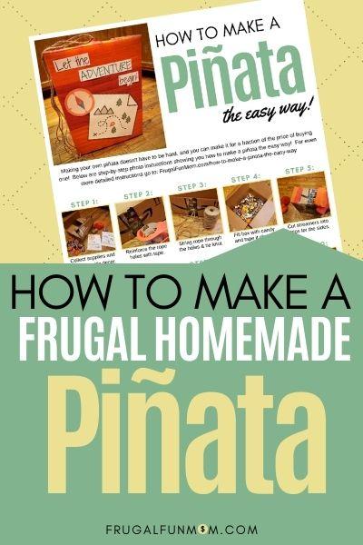 How To Make A Frugal Homemade Pinata | Frugal Fun Mom