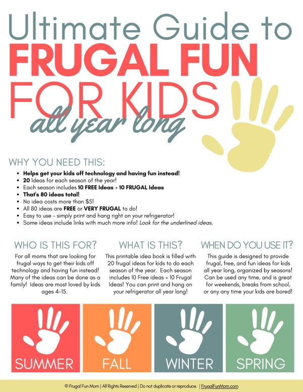 Ultimate Guide To Frugal Fun For Kids | Frugal Fun Mom