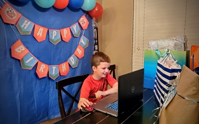 How To Host A Virtual Birthday Party | Frugal Fun Mom