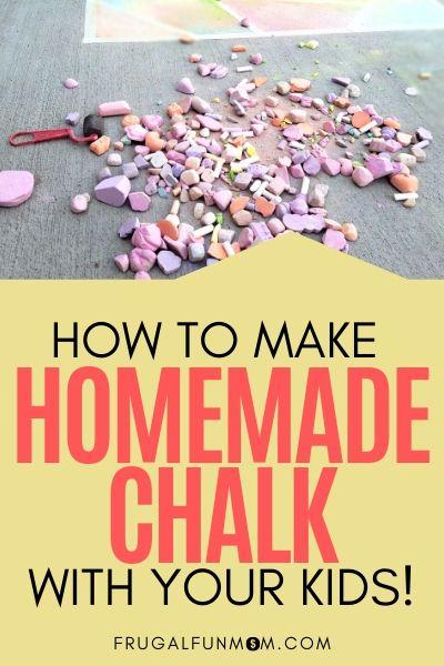 How To Make Homemade Chalk | Frugal Fun Mom