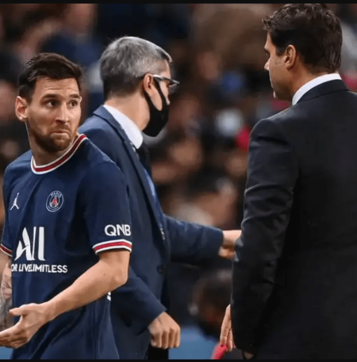 Angry Messi: See Why Messi Refused To Handshake His Coach After Being Subbed Off Against Lyon