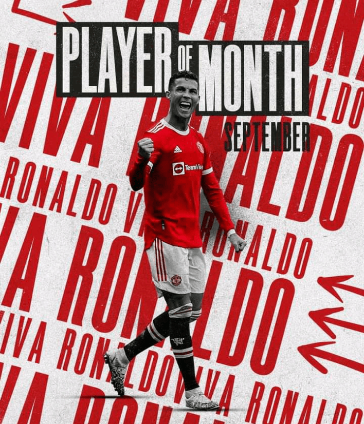 Fans react after Cristiano wins Manchester United player of the month after one month back