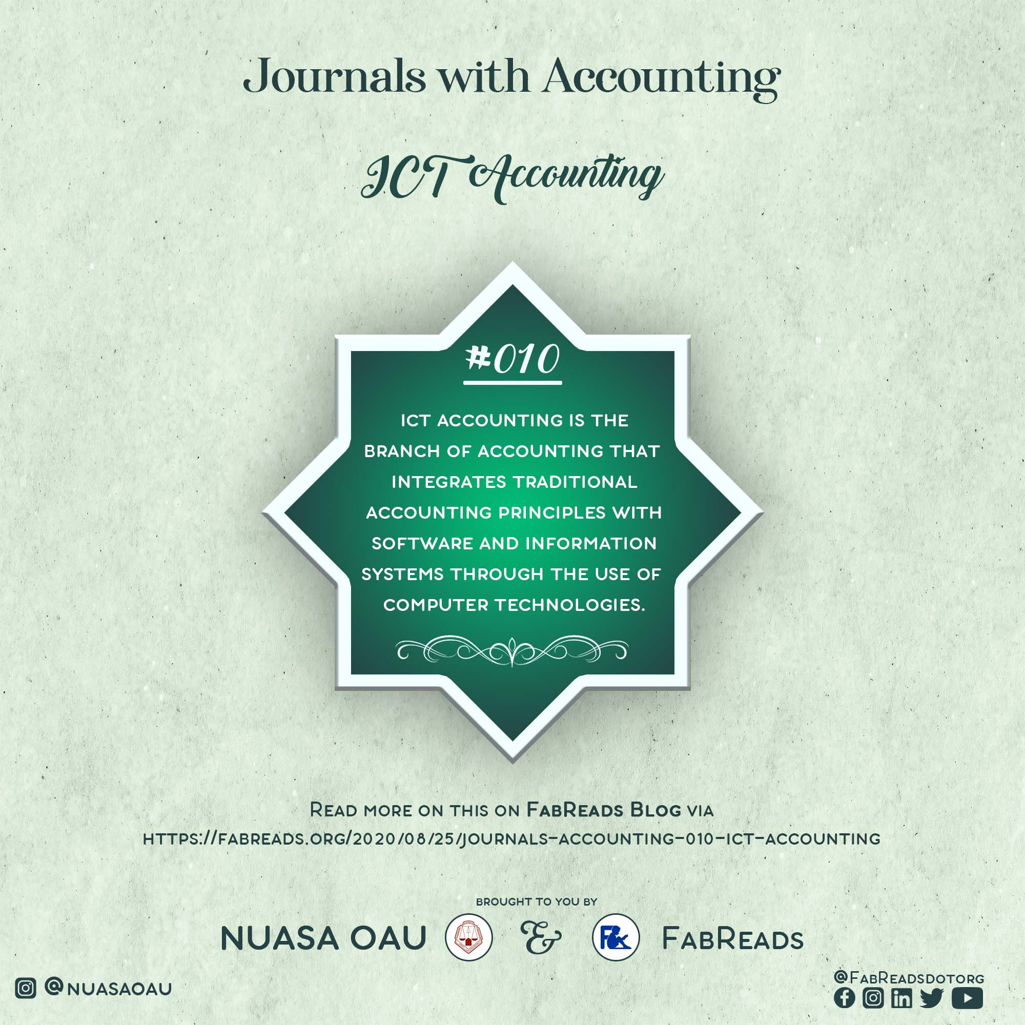 Journals with Accounting – 010 – ICT Accounting