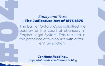 FabReads Digest with Law – 049 (The Judicature Act of 1873-1875)