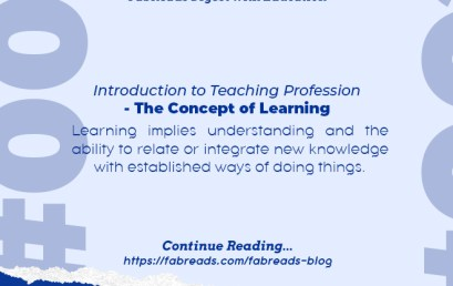 FabReads Digest with Education 002 – The Concept of Learning