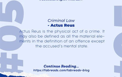 FabReads Digest with Law 055 – Actus Reus