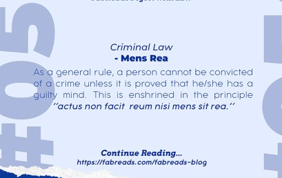 FabReads Digest with Law 056 – Mens Rea