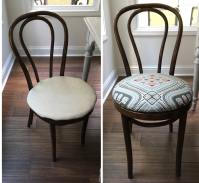 No Sew Dining Chair Upholstery Tutorial
