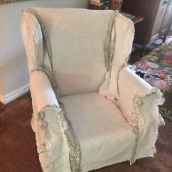 Simple Diy Chair Covers Desk Big And Tall Wingback Slipcover Tutorial Create Your Own