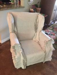 Wingback Chair Slipcover Tutorial | Create your own DIY ...
