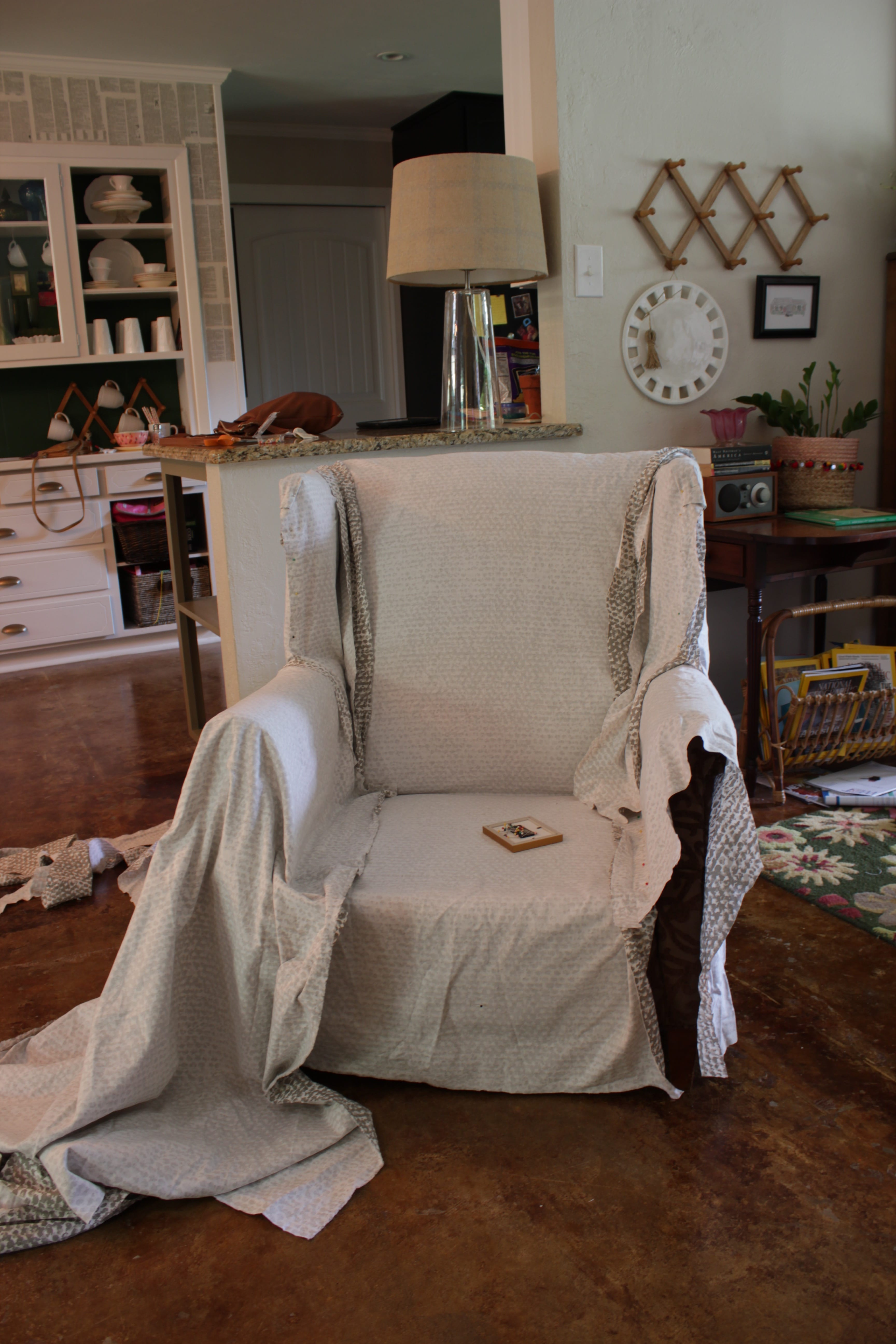 how to make slipcover for wingback chair thermarest easy tutorial create your own diy
