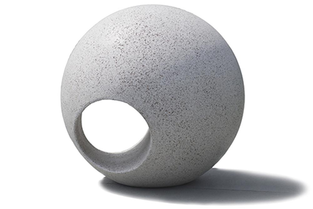 sphere unexpectedly light concrete