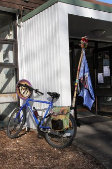 Bicycle outside Fabric-a-brac Auckland 2014