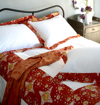 Royal Hut's African batik bedroom collection