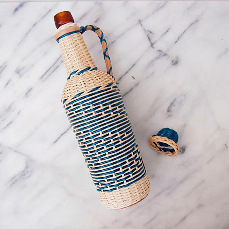 botellas trenzadas scoubidou vintage fabricadeimaginacion1