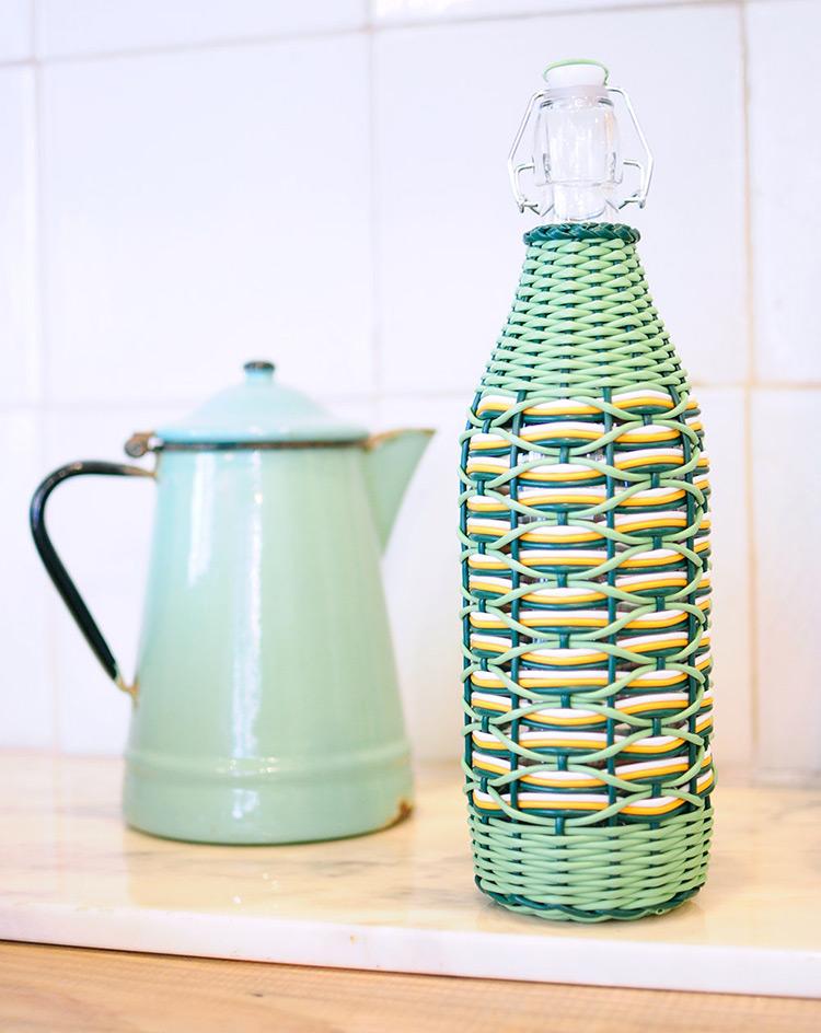 botellas trenzadas scoubidou vintage fabricadeimaginacion2