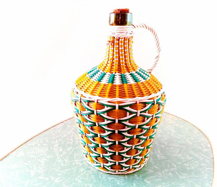 botellas trenzadas scoubidou vintage fabricadeimaginacion25