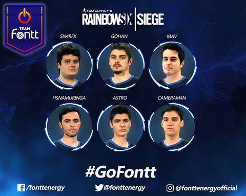 Team Fontt substitui Santos.Dex no Rainbow Six