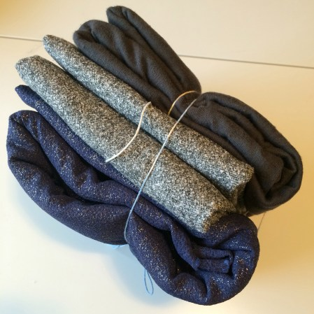 Black/Gray wool and a gray french terry