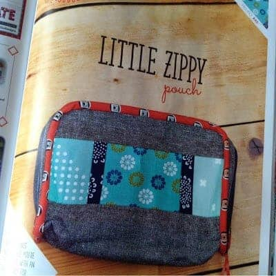 Little Zippy pouch, Quilt Now issue 9 by fabricandflowers | Sonia Spence