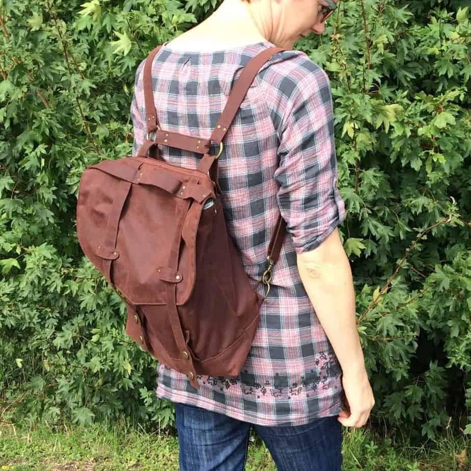 Sewing the Huxley Bag – a convertible rucksack