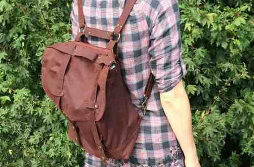 Sewing the Huxley Bag - a convertible rucksack (Goheen Designs) by fabricandflowers | Sonia Spence