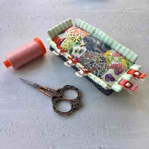 A new Liberty fabric Clip'n'Pincushion to sit on my sewing machine by fabricandflowers | Sonia Spence