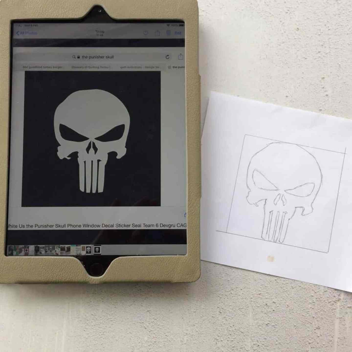 How to applique - tracing images from a tablet screen by fabricandflowers