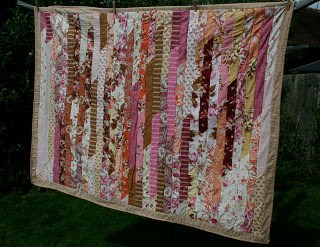 Jelly Roll race quilt with tips for piecing by fabricandflowers | Sonia Spence