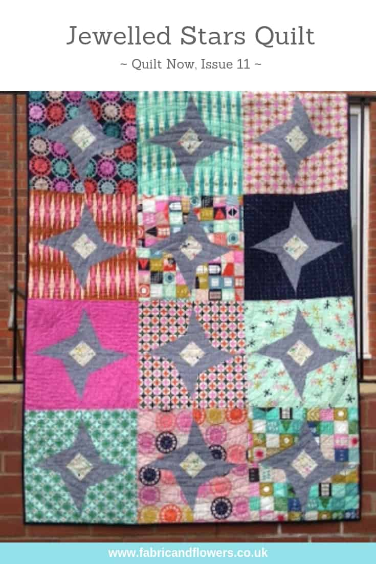 Jewelled Stars Quilt, Quilt Now Issue 11, by fabricandflowers