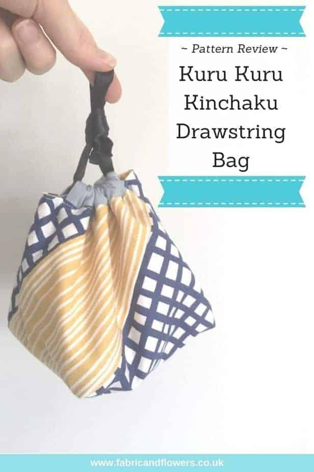 Kinchaku Bag : kinchaku, Pattern, Review:, Kinchaku, Drawstring, Fabric, Flowers