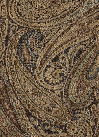 red sofa pillows 66 rv intrigue blue brown beige paisley upholstery fabric