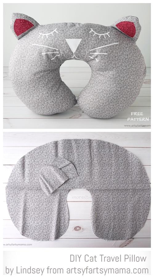 diy cat travel pillow free sewing pattern