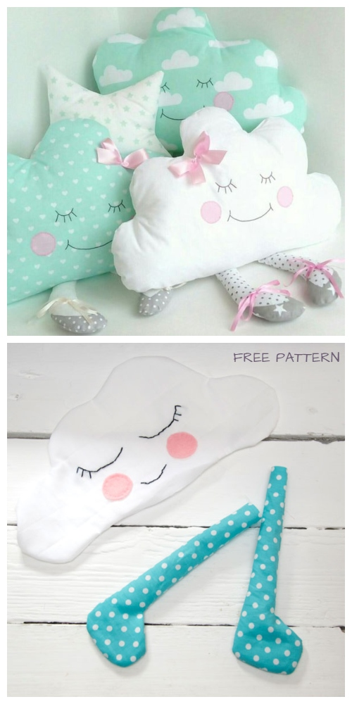 diy fabric cloud baby free sewing