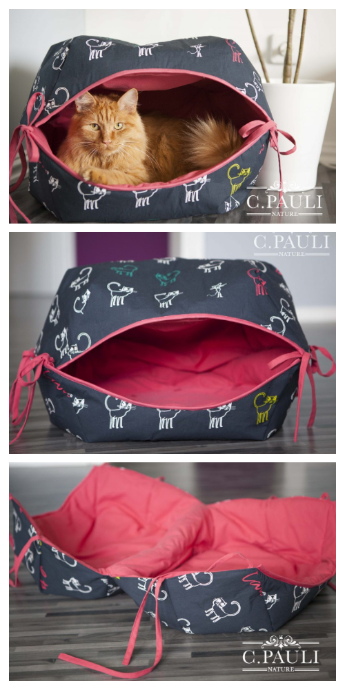 Cat Cave Sewing Pattern : sewing, pattern, Fabric, Sewing, Pattern